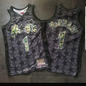 Tracy McGrady Camo Numbered Magic Throwback Jersey